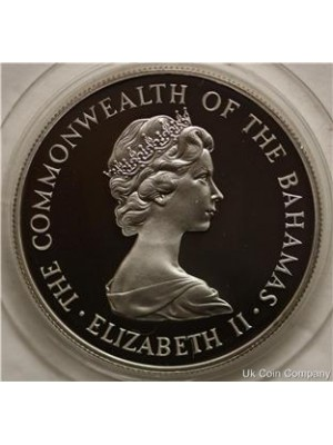 1981 bahamas royal wedding silver proof $10 ten dollars coin in capsule