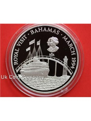 1994 bahamas royal visit silver proof $2 two dollars coin