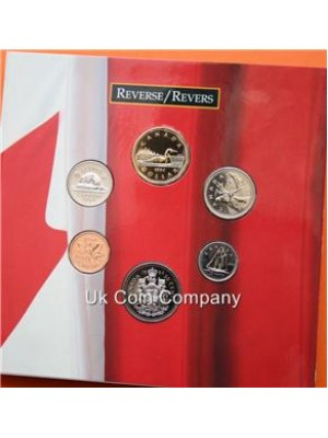 1994 oh canada brilliant uncirculated coin set collection
