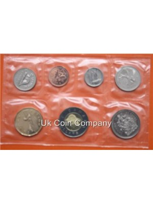 2001 CANADA UNCIRCULATED 7 COIN SET IN ORIGINAL PRESENTATION ENVELOPE