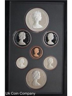 1981 canada transcontinental rail road silver dollar 7 coin proof  set