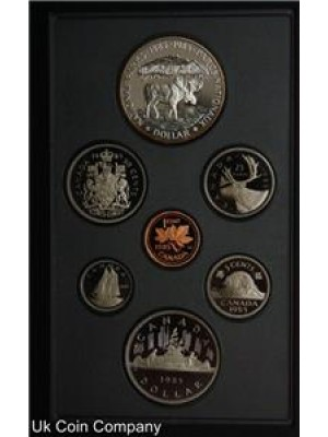 1985 canada moose silver dollar 7 coin proof set
