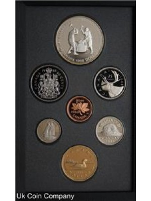 1988 canada ironworks silver dollar 7 coin proof set