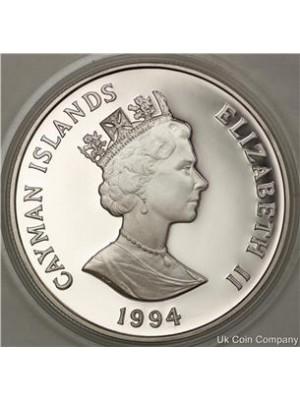 1994 barbados engagement portrait sterling silver proof $5 five
