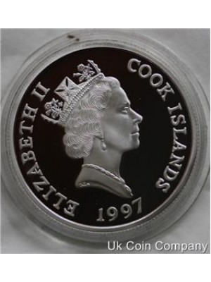 1997 cook islands family portrait sterling silver proof $2 two dollar coin