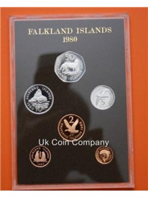 1980 Falkland Island Proof Coin Set