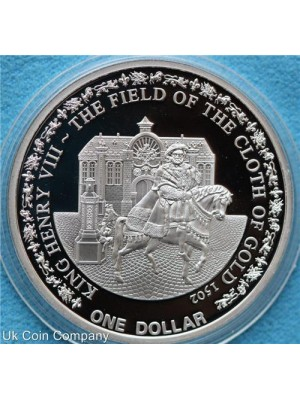 2010 Fiji Henry Viii Silver Proof One Dollar Coin