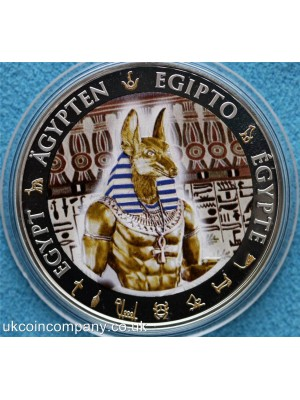2012 Fiji Egypt Anubis Silver Proof One Dollar Coin Boxed With Certificate Of Authenticity Very Low Issue Limit Of Only 999