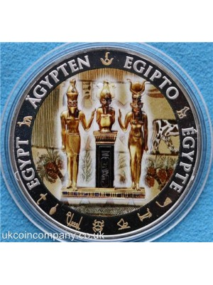 2012 fiji egypt osiris isis horus silver proof one dollar coin boxed with certificate of authenticity very low issue limit of only 999