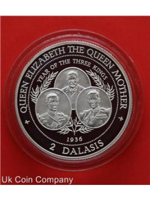 1997 the gambia year of three kings sterling silver 2 dalasis proof coin