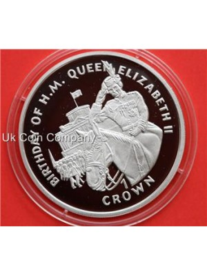 1997 GIBRALTAR QUEENS BIRTHDAY SILVER ONE CROWN PROOF COIN