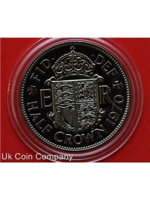 1970 uk proof half crown coin in capsule