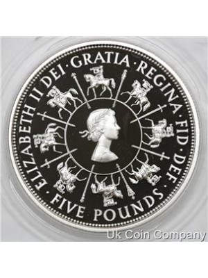 1993 united kingdom silver five pound proof coin