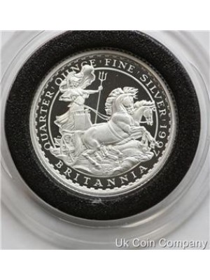 1997 britannia 1/4oz fine silver chariot fifty pence proof coin