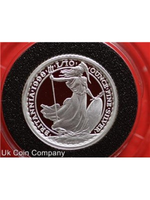 1998 Britannia Fine Silver Twenty Pence Proof Coin In Capsule
