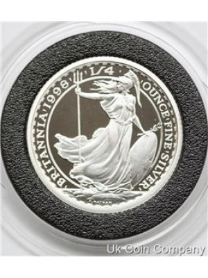 1998 Britannia Fine 1/4oz Silver Fifty Pence Proof Coin