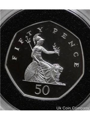 2000 BRITANNIA SILVER FIFTY PENCE PROOF COIN
