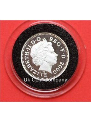 2000 uk millennium silver proof english decimal 10p ten pence coin in capsule