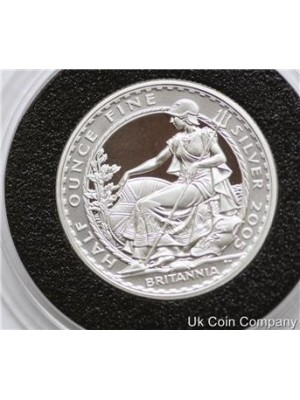 2005 britannia 1/2oz fine silver proof one pound coin - low mintage coin