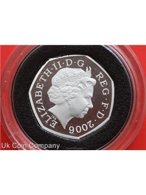 2006 uk heroic acts silver proof piedfort 50p fifty pence coin in capsule
