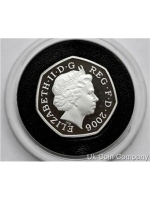 2006 uk victoria cross silver proof piedfort 50p fifty pence coin in capsule