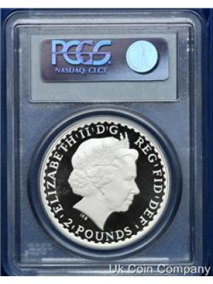2009 britannia silver proof £2 coin graded by pcgs as pr 69 - Low mintage