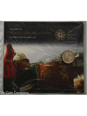 2009 brilliant uncirculated royal arms £1 coin pack
