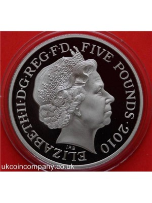 2010 royal mint london olympic games winston churchill proof five pounds crown coin in capsule