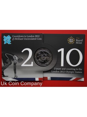 2010 olympic games royal mint brilliant uncirculated £5 coin in pack
