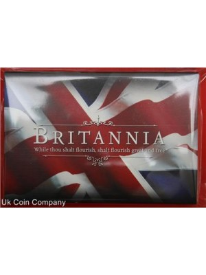 2011 royal mint britannia one ounce silver two pounds coin in Royal Mint presentation case.