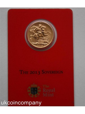 2013 I india bombay royal mint special edition full sovereign coin in security mint card