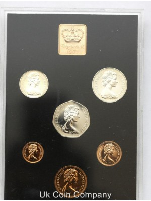 1971 uk first decimal proof coin set