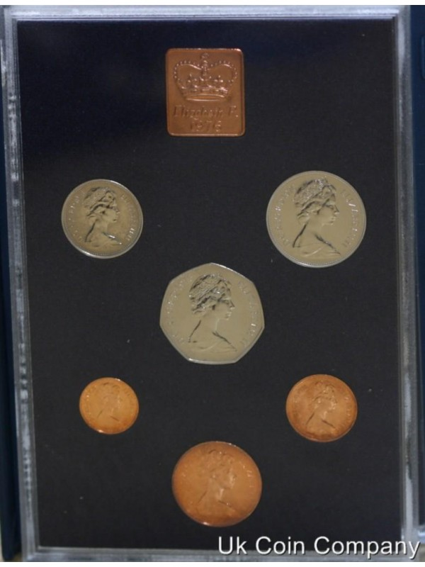 1976 uk decimal proof coin set