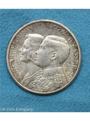 1964 greece constantine II and anne-marie wedding 30 drachma coin