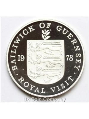 1978 Bailiwick Of Guernsey Silver Proof 50p Pence Coin