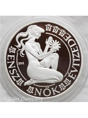 1984 hungary decade for woment silver proof 500 forint coin