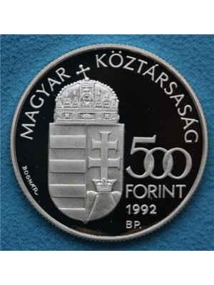 1992 hungary silver proof 500 forint coin - scarce coin