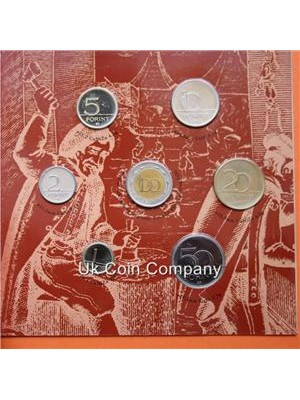 2001 COIN SET OF HUNGARY IN BRILLIANT AND UNCIRCULATED CONDITION