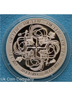 2007 ireland celtic culture silver proof 10 euro coin - presented boxed with cert