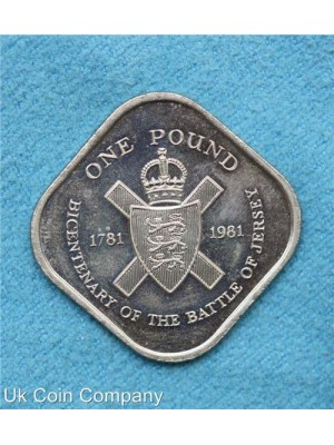 1981 jersey uncirculated badge of royal jersey militia coin