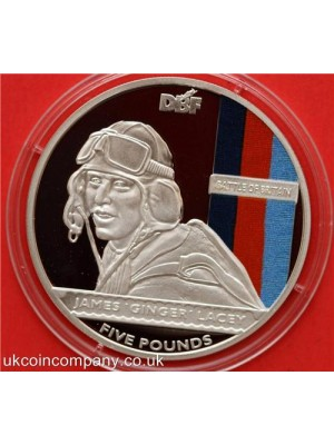 2010 bailywick of jersey rare battle of britain silver proof five pounds crown coin in capsule