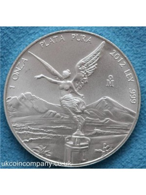 2012 mexican libertad angel 1 oz silver bu coin