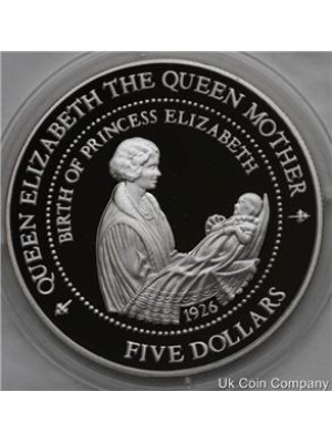 1994 new zealand sterling silver proof $5 proof coin with coa