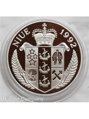1992 niue the resolution silver $10 proof coin - low mintage