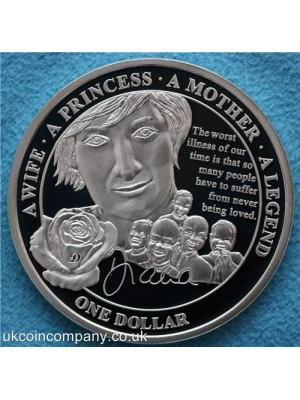 2011 niue island princess diana silver plated proof one dollar coin in capsule