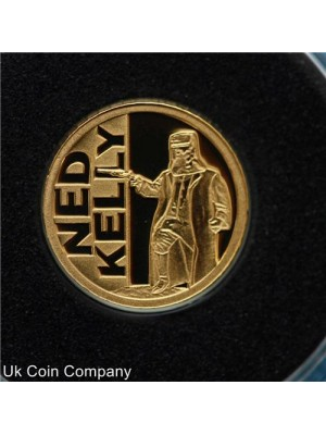 2012 niue ned kelly fine 0.999 gold proof small $5 coin in capsule