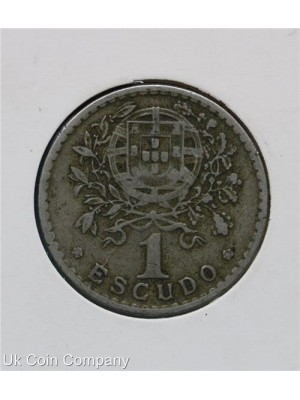 1927 portugal one escudo coin - scarce coin