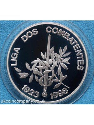 1998 portugal league of combatants silver proof 1000 escudos coin boxed with certificate of authenticity