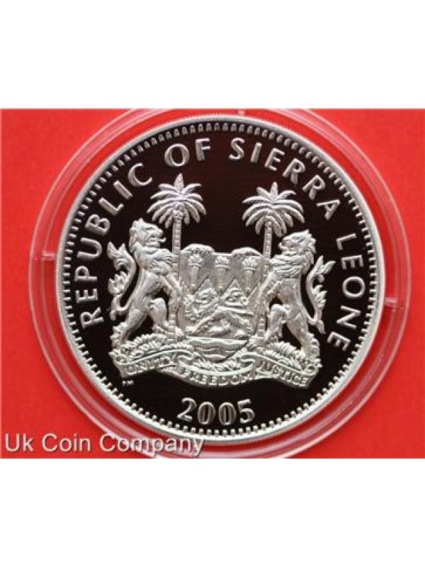2005 Sierra Leone Battle Of El Alamein Silver 10 Ten Dollar Proof