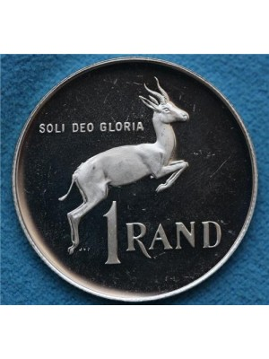 1980 south africa springbok 1 rand silver proof coin